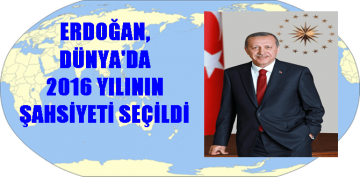 """CUMHURBAŞKANI ERDOĞAN """"YILIN ŞAHSİYETİ"""" SEÇİLDİ"""