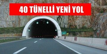 TİREBOLU – TORUL ARASINA 40 TÜNELLİ YENİ YOL GELİYOR