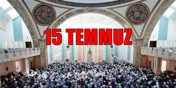 DİYANET'TEN 15 TEMMUZ HUTBESİ