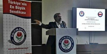 GÜMÜŞHANE EĞİTİM BİR SEN'DE ÜST SEVİYELİ TOPLANTI