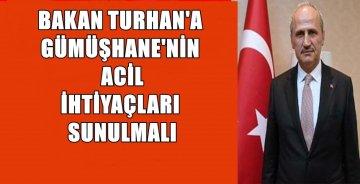 Ulaştırma ve Altyapı Bakanı Turhan Yarın Gümüşhane'ye geliyor