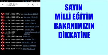 """MİLLİ EĞİTİM BAKANLIĞI'NIN  """"ŞEHiT ÖĞRETMENLER"""" LİSTESİNDE NOKSANLIK VAR"""