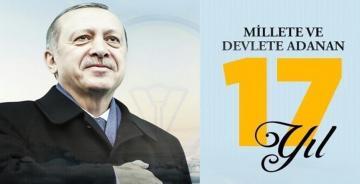 AK PARTİ'NİN MİLLETE HİZMETTE 17.YILI