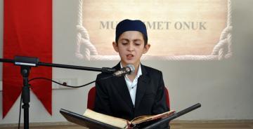 Gümüşhane'de Kur'an-ı Kerim'i en güzel Muhammet Onuk Okudu