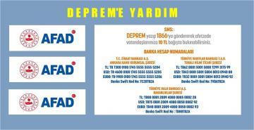 DEPREM İÇİN AFAD'IN RESMİ YARDIM HESAPLARI