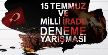 """GÜMÜŞHANE ÜNİVERSİTESİ """"15 TEMMUZ VE MİLLİ İRADE"""" KONULU DENEME YARIŞMASI AÇTI"""