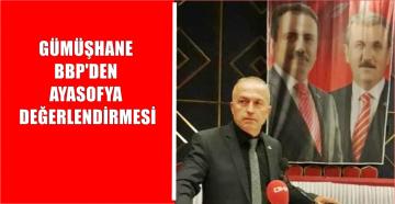 Ayasofya İslam'ın ve Türklüğün Nişanesidir